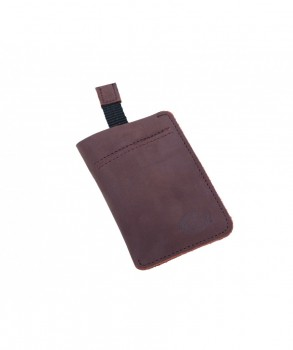 DICKIES - LARWILL LEATHER WALLET BROWN