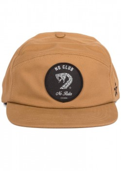 UNIT - NO CLUB NO RULES 6 PANEL CAP TOBACCO ONE SIZE