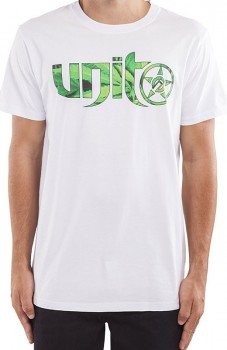 UNIT - SPIN PEACE TEE WHITE