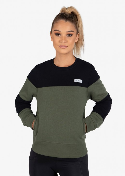 UNIT - OXFORD LADIES SWEATER MILITARY