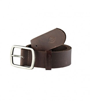 DICKIES - EAGLE LAKE LEATHER BELT BROWN