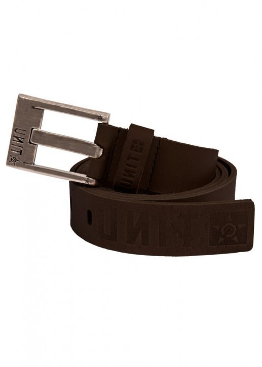UNIT - ACCLAIM LEATHER BELT CHOC