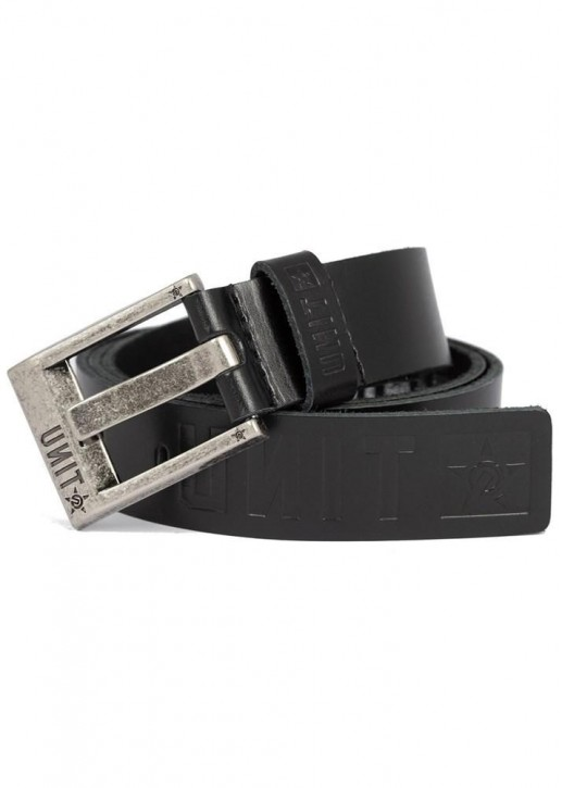 UNIT - FORTITUDE LEATHER BELT BLACK