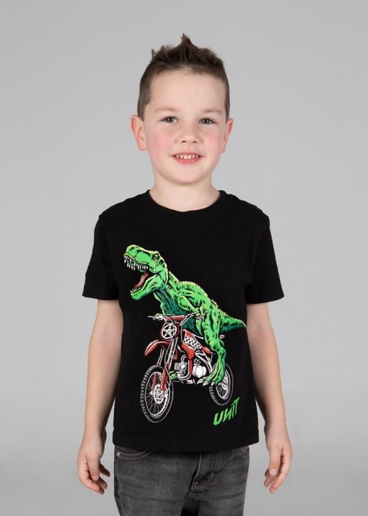UNIT - T-REX KIDS TEE BLACK