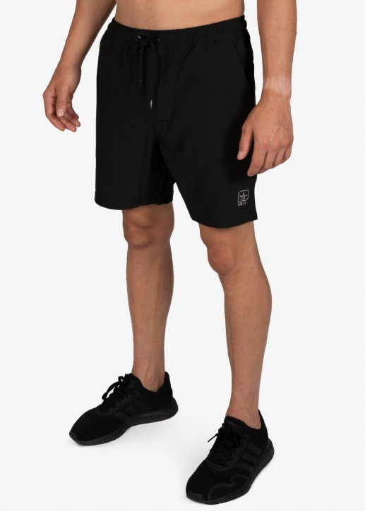 UNIT - BOARDWALK ELASTIC WALKSHORTS BLACK