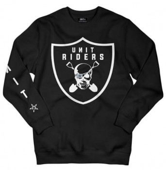 UNIT - RIDERS CREW SWEATER BLACK S