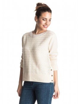 ROXY - DON'T BACK DOWN SWEATER NATURAL