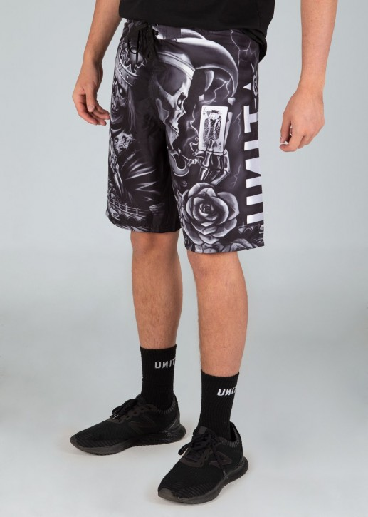 UNIT - CRIMSON BOARDSHORTS BLACK