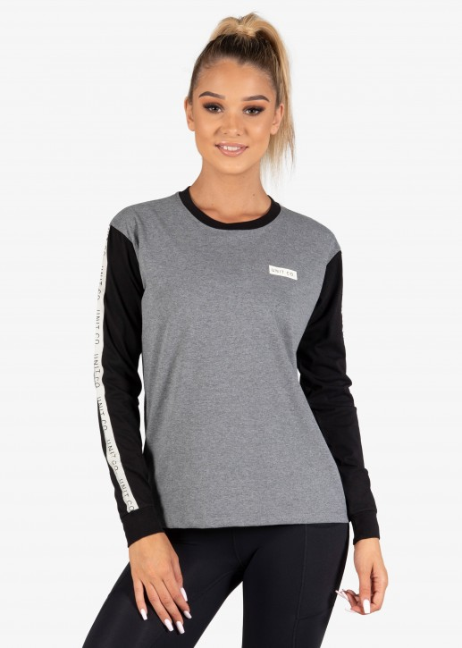 UNIT - NOVEL LADIES LONGSLEEVE GREY MARL