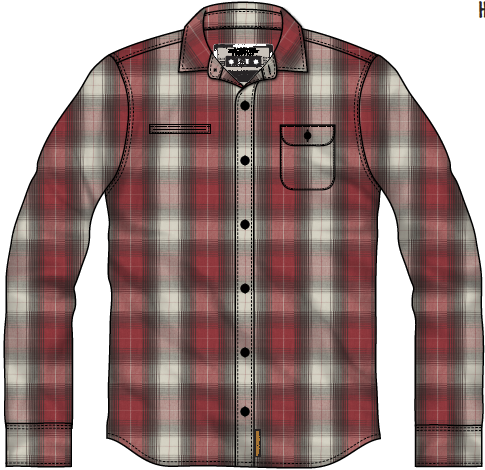 MACBETH - HAWKINS WOVEN SHIRT RED