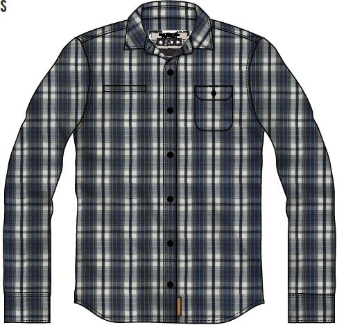 MACBETH - HAWKINS WOVEN SHIRT BLUE