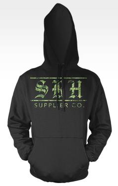 SRH - SUPPLIER CO PULLOVER HOODIE BLACK/GREEN