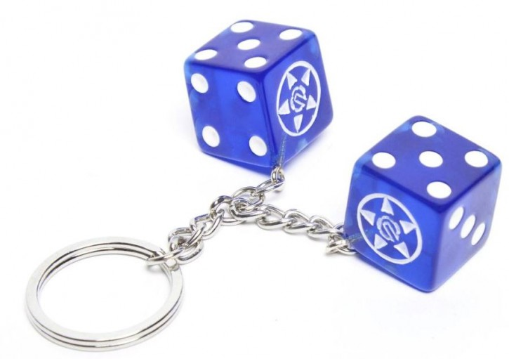 UNIT - DICE KEYRING BLUE