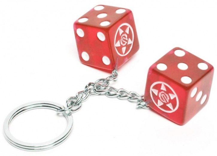 UNIT - DICE KEYRING RED