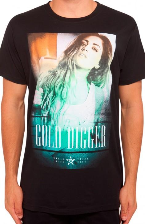 UNIT - GOLD DIGGER TEE BLACK M