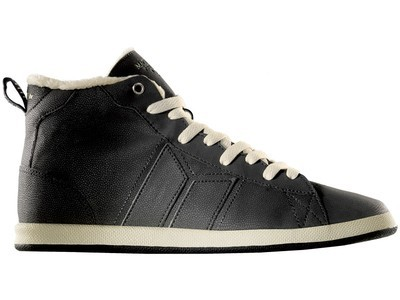 MACBETH - LONDON HIGH BLACK/CEMENT SYNTH LEATHER/FAUX FUR