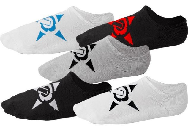 UNIT - NO SHOW SOCKS 5 PACK MULTI 7-11