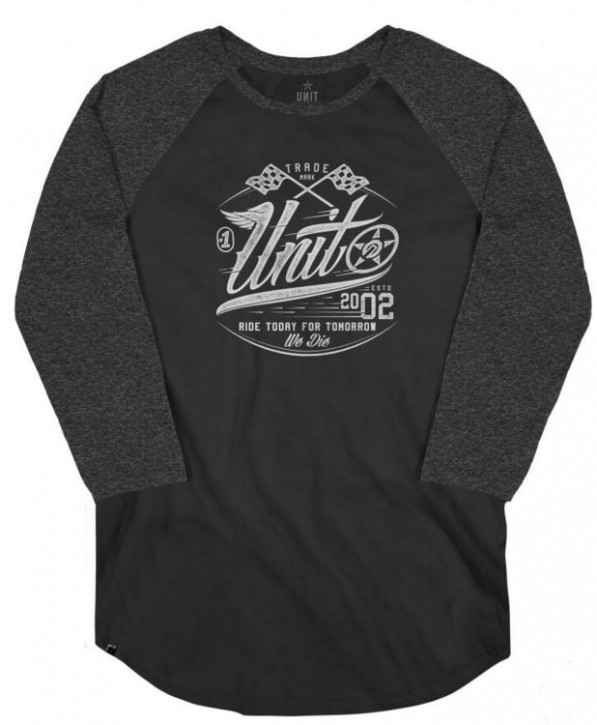 UNIT - RACER RAGLAN BLACK S