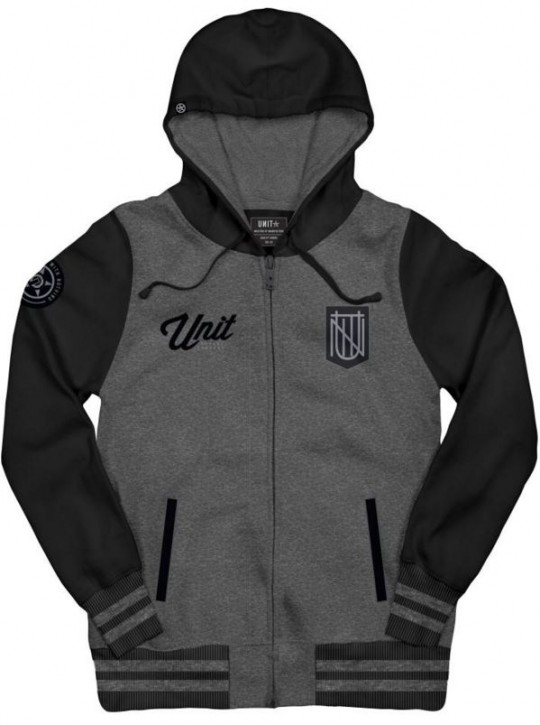 UNIT - REFLECTION ZIP HOODIE CHARCOAL MARLE M