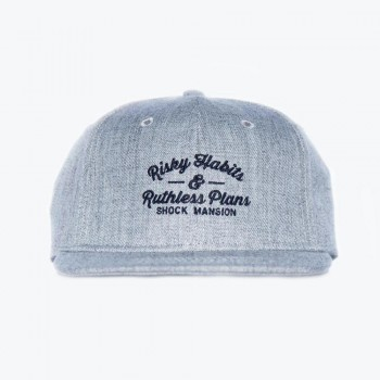 SHOCK MANSION - RISKY HABITS SNAPBACK GREY