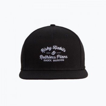 SHOCK MANSION - RISKY HABITS SNAPBACK BLACK