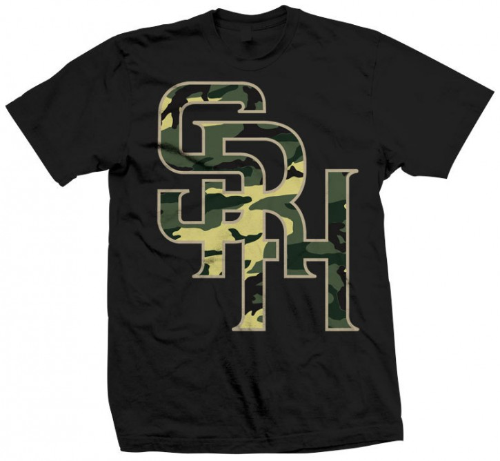 SRH - CAMO PLAYER TEE BLACK L