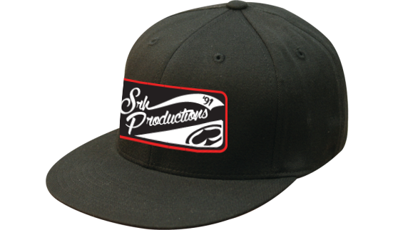 SRH - PRODUCTION PATCH FLATBILL FLEXFIT HAT BLACK S/M