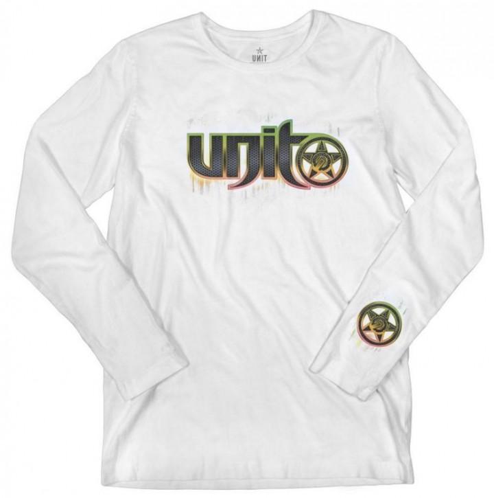 UNIT - STEELE LONGSLEEVE WHITE M