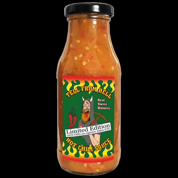 TELL FROM HELL Hot Chili Sauce Habanero