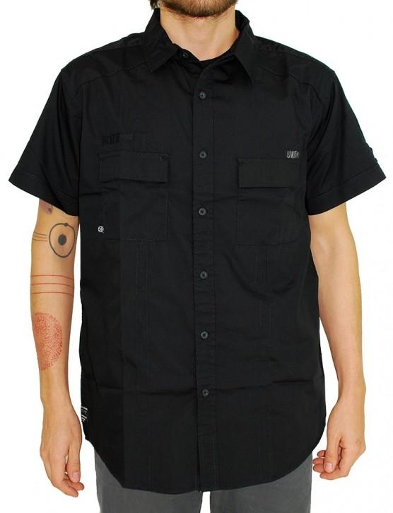 UNIT - BESEIGE S/S SHIRT BLACK