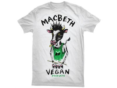 MACBETH - VEGAN PUNK TEE WHITE/GREEN
