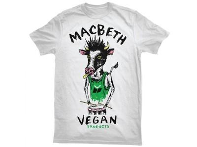 MACBETH - VEGAN PUNK TEE WHITE/GREEN L