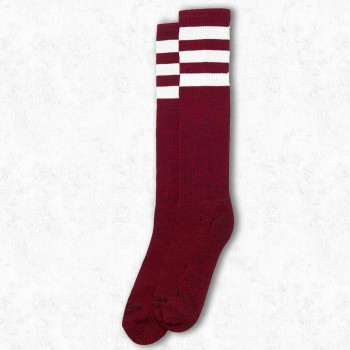 AMERICAN SOCKS - RED NOISE KNEE HIGH ONE SIZE