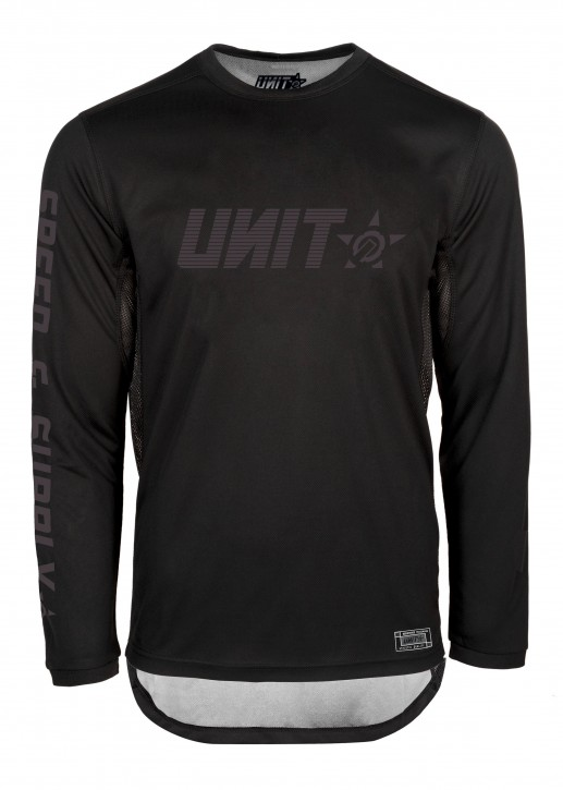 UNIT - FUSION MX JERSEY BLACK