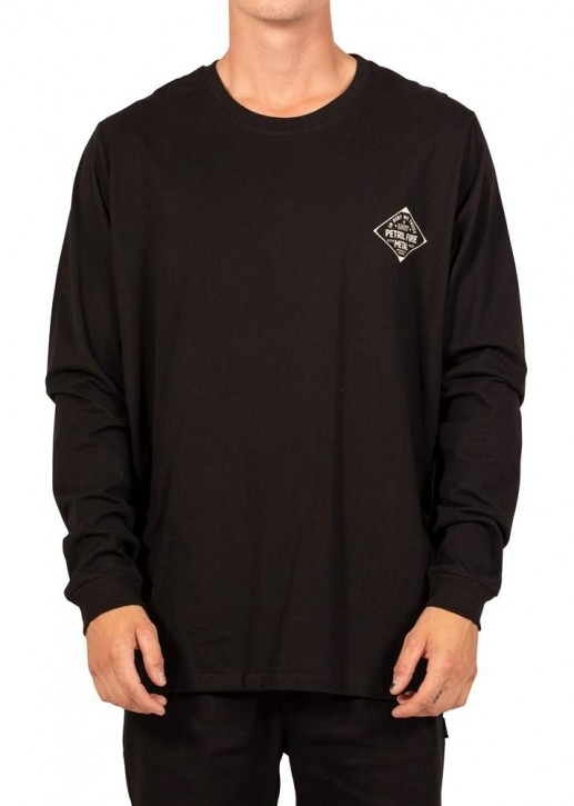 UNIT - TRUSTIE LONG SLEEVE TEE BLACK