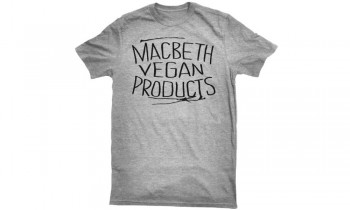 MACBETH - VEGAN PRODUCTS TEE HEATHER GREY L
