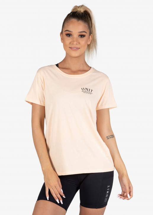 UNIT - COURSE LADIES TEE PEACH