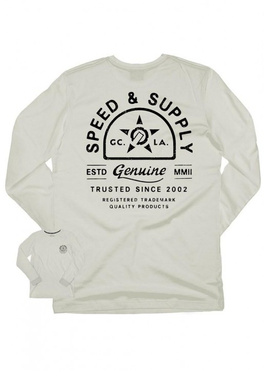 UNIT - SUPPLIER LONG SLEEVE TEE OFF WHITE