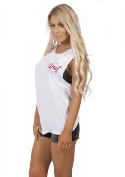 UNIT - DERBY MUSCLE TEE WHITE