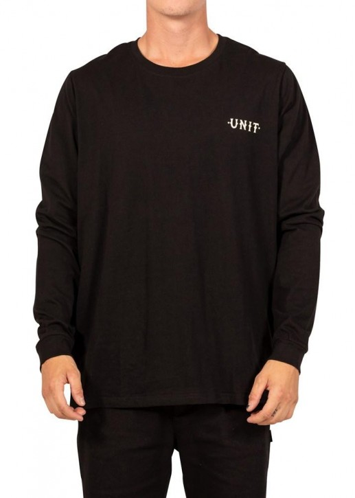 UNIT - PARADISE LONG SLEEVE TEE BLACK