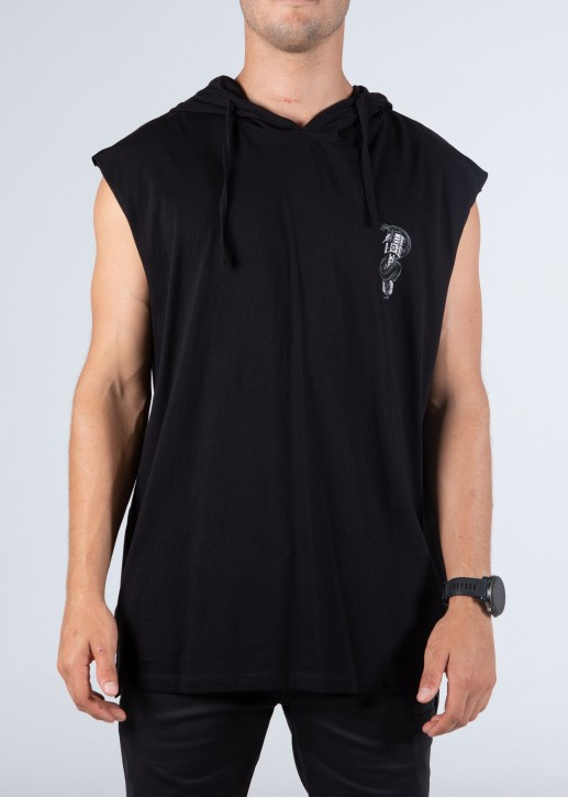 UNIT - DEADEND HOODED MUSCLE BLACK