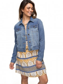 ROXY - HELLO SPRING JEANS JACKET BLUE