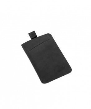DICKIES - LARWILL LEATHER WALLET BLACK