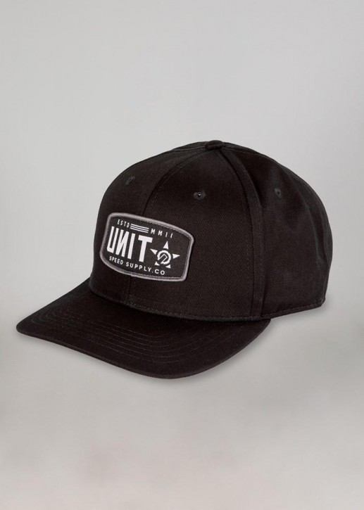 UNIT - UNION SEMI CURVE SNAPBACK BLACK