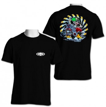 SRH - HOT ROD TEE BLACK