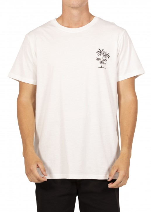 UNIT - NO VACANCY TEE WHITE