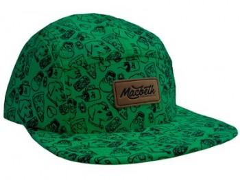 MACBETH - EL PASSERO 5 PANEL HAT BLACK/GREEN