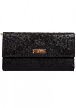 UNIT - PAIZED LEATHER WALLET BLACK