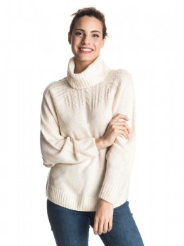 ROXY - BLUE HEAVEN TURTLENECK LIGHT BEIGE