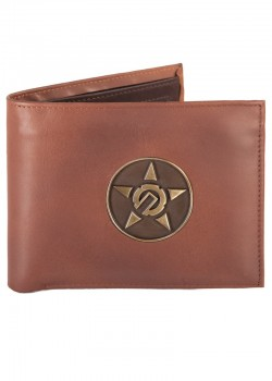 UNIT - CONTURE LEATHER WALLET CHOCOLATE ONE SIZE